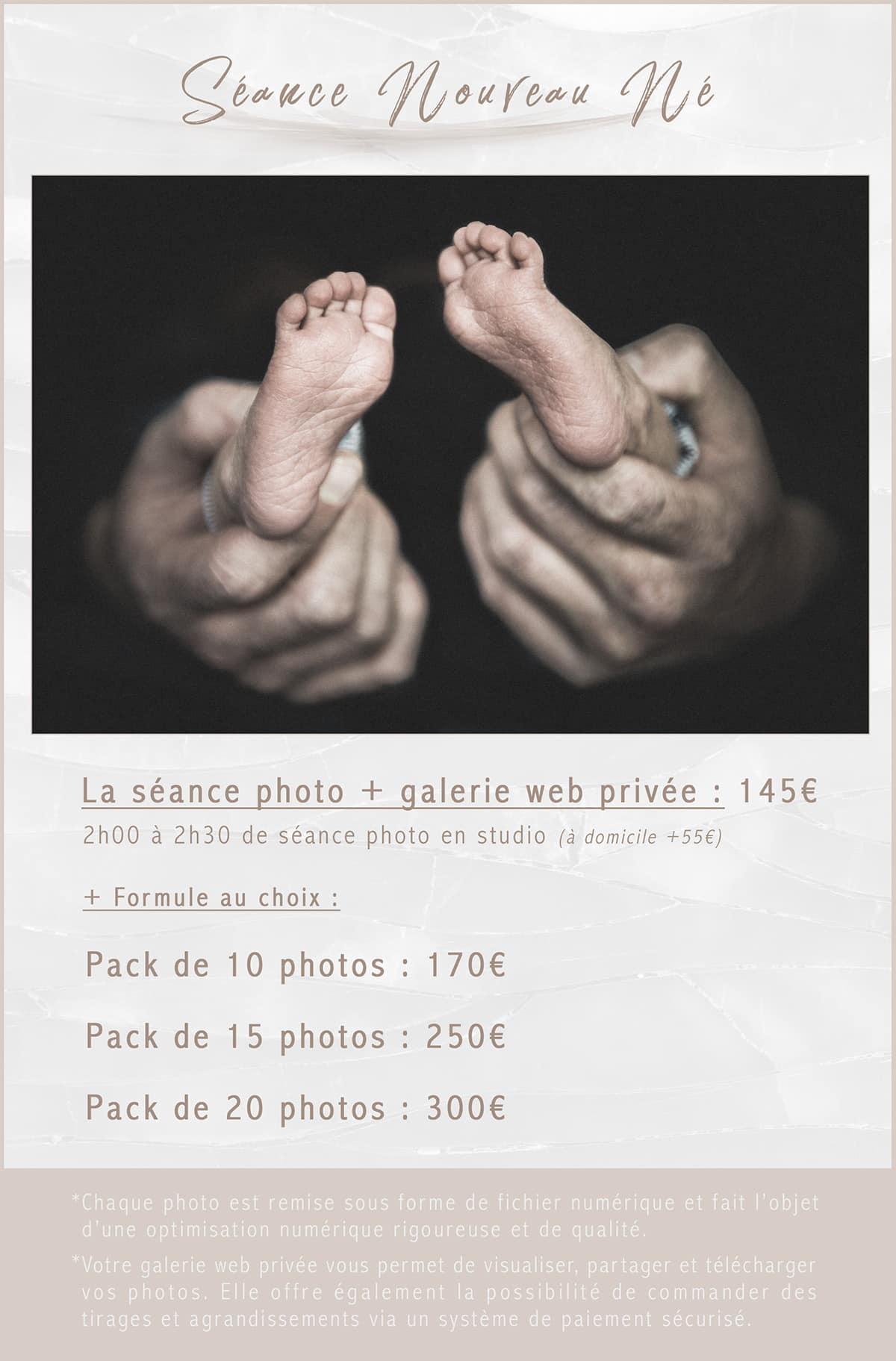 Séance photo bébé Tournai Lille Nouveau né